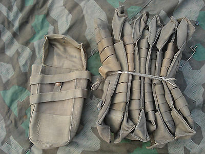 British WWII Sten pouch 1941 and Lanchester Canvas Magazin Web Normandy No MP40