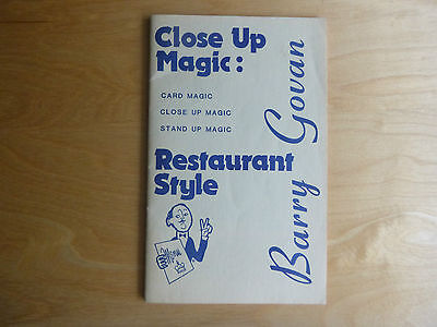 Close Up magic Restaurant Style by Barry Govan