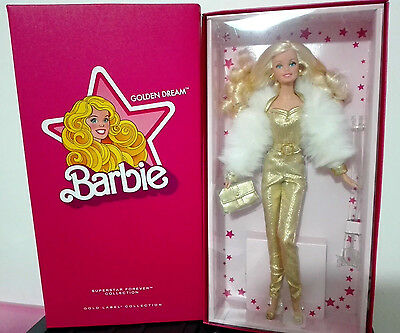 BARBIE GOLDEN DREAM - GOLD LABEL NRFB - model muse doll collection collezione