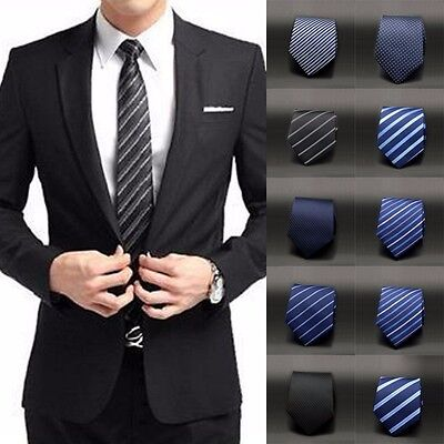 Formal Business Wedding Party Dot/Striped Jacquard Woven Tie Men's Tie Necktie