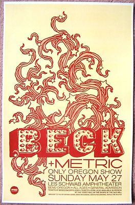 BECK 2012 Gig POSTER Bend Oregon Concert