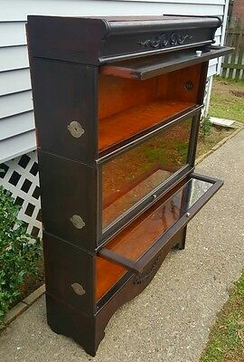 Antique Eloquent Rare Rockwell-Wabash Chicago Expansion Bookcase 1891 1900