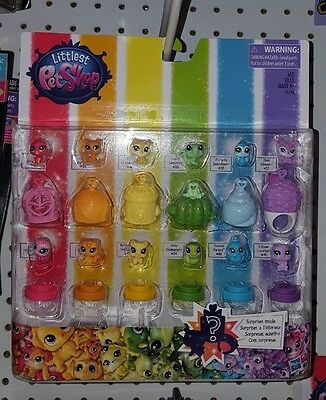 Littlest Pet Shop Rainbow Collection Pet Pack Teensie Pets and Habitats
