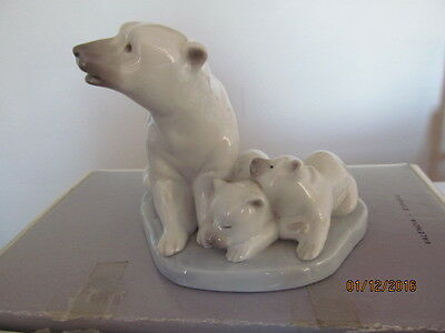 LLadro Polar Bear Family  5434