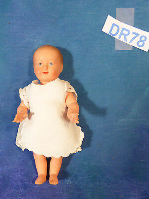 Antique 1930s French Le Minor Petitcolin Celluloid Sm 6in Baby Toddler Doll DR78