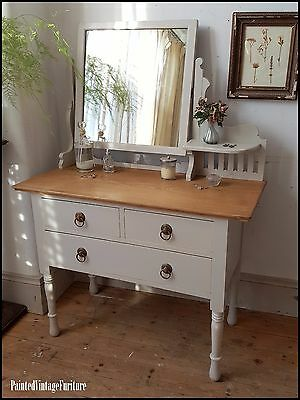 Painted Vintage Shabby Chic Antique Arts and Craft Dressing Table Farrow & Ball