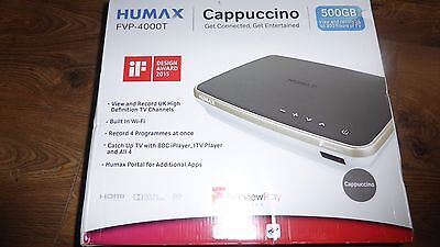 Humax FVP-4000T Freeview Play Recorder, 500GB, Cappuccino