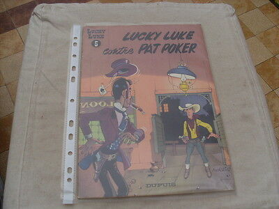 bd lucky luke BROCHE numéro 5 CONTRE PAT POKER 1970 rare collection