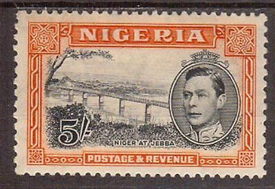 Nigeria:1938:5/- Black & Orange,(Perf 13 1/2 x 11 1/2),Mint.C.£110+