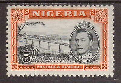 Nigeria:1949:5/- Black & Orange,(Perf 12),Mint