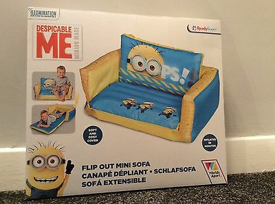 Worlds Apart ReadyRoom Despicable Me Minion Flip-Out sofa chair kids furniture
