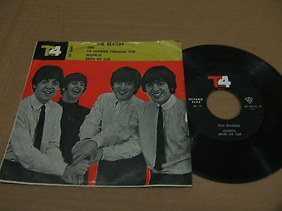 "The Beatles TOP4 IRAN 7"" EP w/ps Girl - Michelle - Drive RARE Iranian Persian 45"