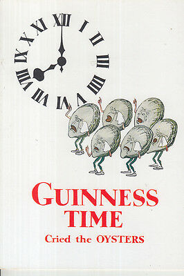 VINTAGE GUINNESS POSTCARD .Guinness Time Oysters.. ORIGINAL,