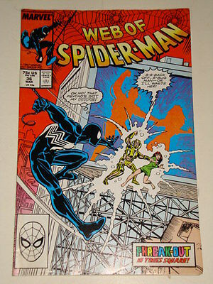 Marvel Spider-Man Web Of Issue # 36 March 1988 'phreak-Out!' Good Condition
