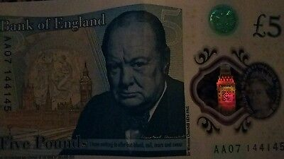 Aa07 five pound note