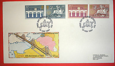 GB illustrated first day cover with special handstamp - 1984