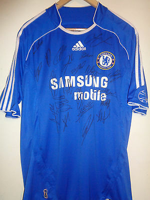 Chelsea signed football shirt by a superstar squad inc COA