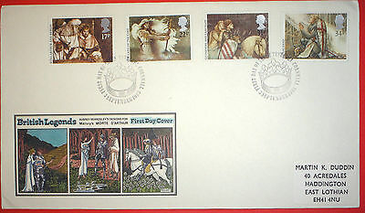 GB illustrated first day cover with special handstamp - 1985 Tintagel