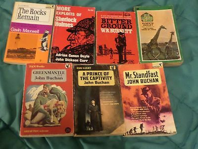 Lot of 7 Good, USED, Old Paperback Fiction books, mixed