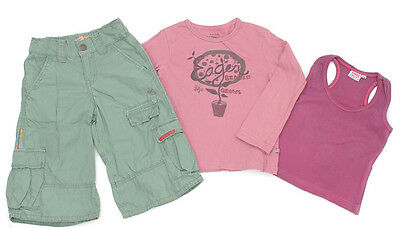 EAGER BEAVER Longbermuda, Langarm-Shirt und KIDDY GIRL Top - 104