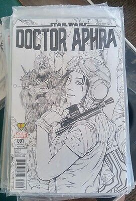 Star wars Doctor Aphra #1 B&W Variant 1500 Print Run Ashley Witter darth vader