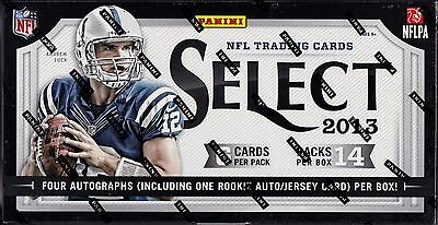 2013 Panini Select Football sealed hobby box 14 packs of 6 NFL cards 4 auto