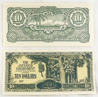 Wwii Malaysia Japanese Occupation Paper Money Malaya $10