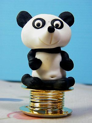Shaking Lovely Panda Car Dashboard Funny Bobble Polymer Clay Sculpted Novelty