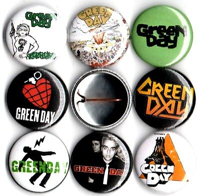 Green Day 8 NEW 1 inch pins buttons badges kerplunk dookie american idiout