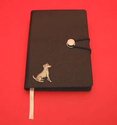 Jack Russell Terrier Motif A6 Black Soft Touch Journal Christmas Notebook Gift