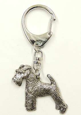 Wire Hair Fox Terrier Silver Keyring