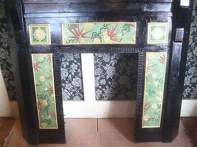 Amer. Aesthetic Movement Mantel with Anglo-Japanesque Panels RAREST Of THE RARE