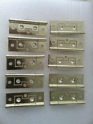 Hinges Brass 65x25x1.4mm - set of 8