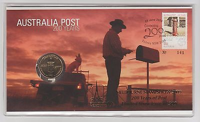 2009 Australia Post 200 Years ($1 Coin) PNC #2 - With Protective Plastic Cover.