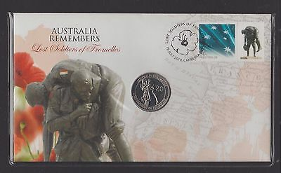 2010 Australia Remembers - Fromelles (20c Coin) PNC + Protective Cover