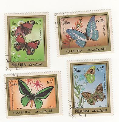 Fujeira ( United Arab Emirates ) 50mm X 40mm BUTTERFLIES stamps CTO /used
