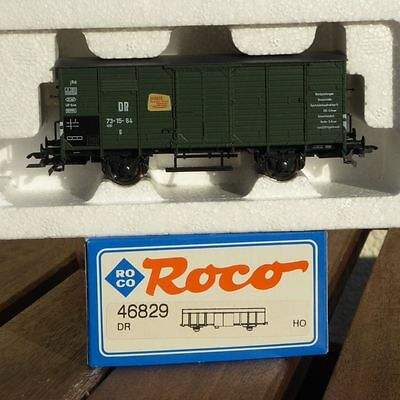 Roco 46829 H0 covered goods wagon G DR Ep. 3 boxed, Car workshop, Construction