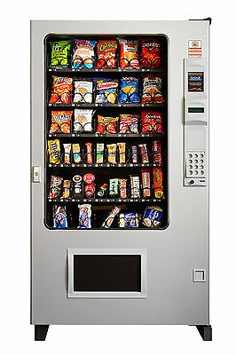 Candy Chip & Snack Vending Machine Gray/Gray , AMS 45 Select w/Coin & Bill Mech