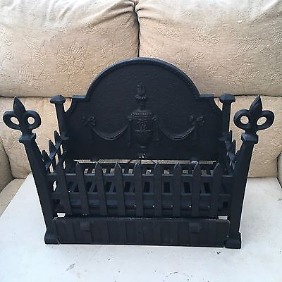 fire grate and tray. cast iron.