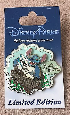 Disney Year of a Million Dreams Stitch at Expedition Everest LE 1500 Pin