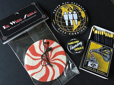 THIRD MAN RECORDS The White Stripes Air Freshener Magnet Matches Pin Set Lot