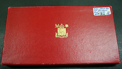 British - 1950 Empty PROOF Set Red Display Box English GVI For 8 Coins