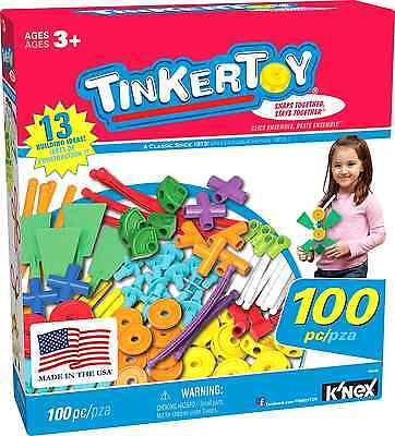TINKERTOY ‒ 100 Piece Essentials Value Set ‒  Ages 3+ Preschool Education