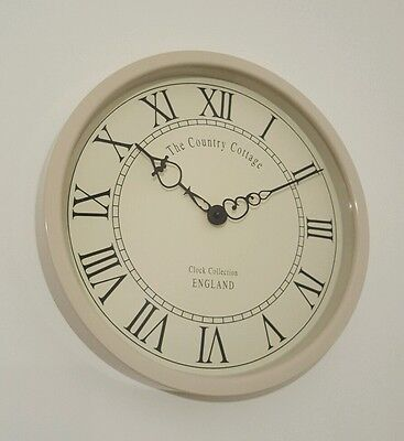 Country Cottage Roman numerals Vintage Style Wall Clock 31cm