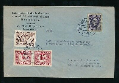 SLOVAKIA POSTAGE DUE INTERNAL 1947 RE USE of STAMP ?