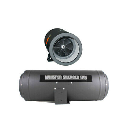 """EP Whisper Silencer Fan for Carbon Filter - 200MM (8"""" Inch)   Quiet Silenced Fan"""