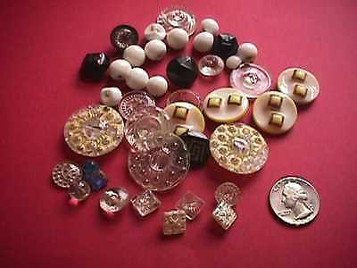 Lot of Antique Glass Buttons