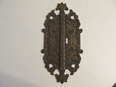 Escutcheon Victorian Large Brass Ornate Key Hole Cover