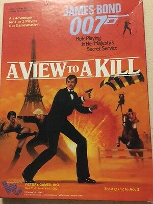 James Bond 007 Victory Games RPG A View to a Kill 1984 All Materials New