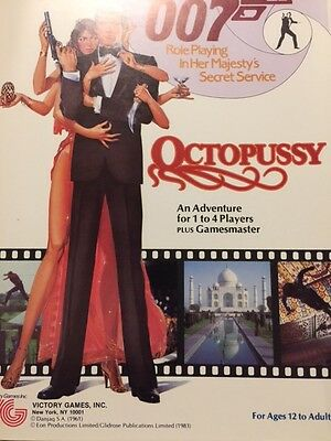 James Bond 007 Victory Games RPG Octopussy 1984 All Materials New